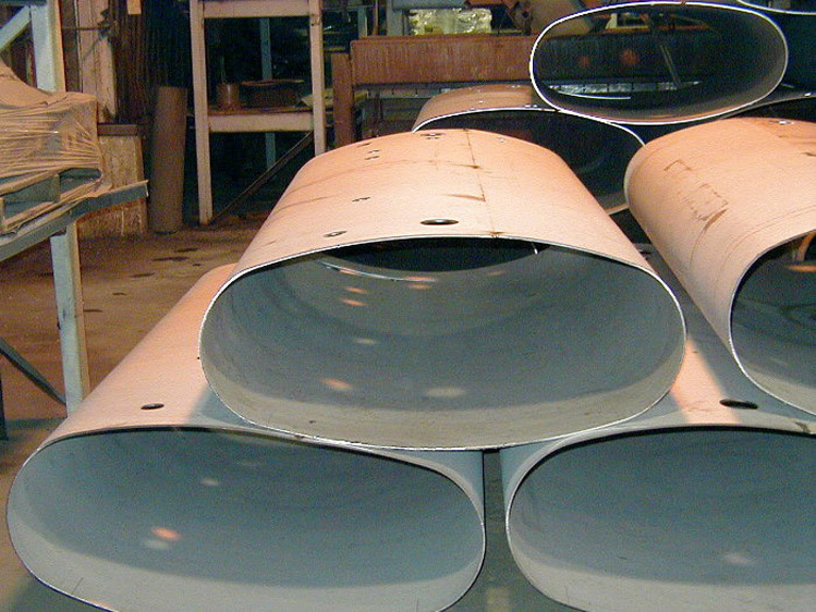 Elliptical Oval Cylinder Pipe Shell