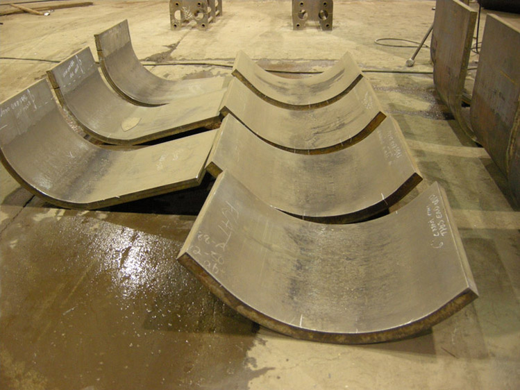 Steel Curved Turbine Vane Formed